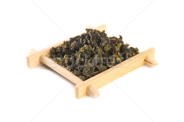 Tie Guan Yin Oolong tea on bamboo serving tray  Stock photo © Elisanth
