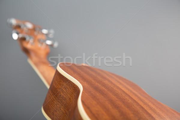 Close-up shot of classic ukulele guitar, back view  Stock photo © Elisanth