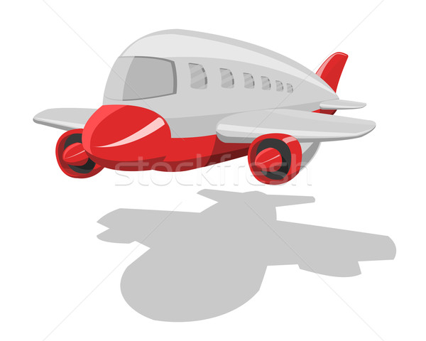 вектора Cartoon самолет изолированный белый технологий Сток-фото © Elisanth