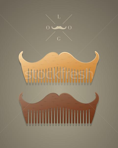 Vektor trendi fésű forma hipszter stílus Stock fotó © Elisanth