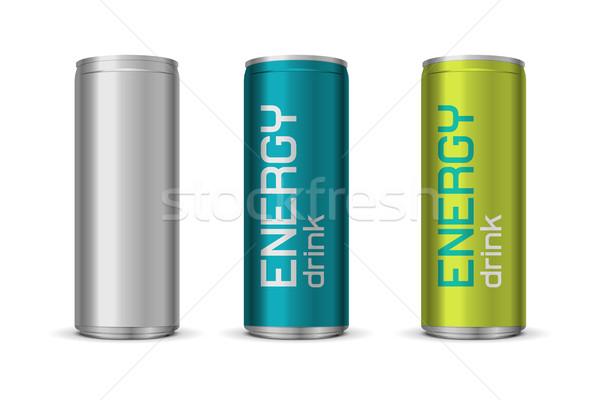 Energiaital különböző színek izolált fehér absztrakt Stock fotó © Elisanth