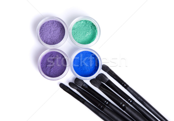 Mineral eye shadows and brushes  Stock photo © Elisanth