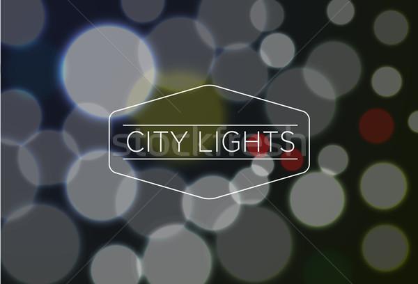 şehir ışıkları kelime bulanık bokeh eps10 şehir Stok fotoğraf © Elisanth