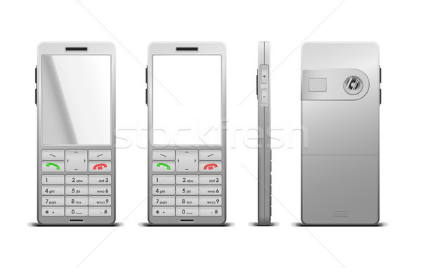Vector illustration of a photorealistic cellphone Stock photo © Elisanth