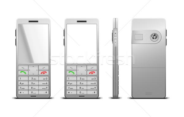 Mobiltelefon telefon űr vállalati digitális fehér Stock fotó © Elisanth