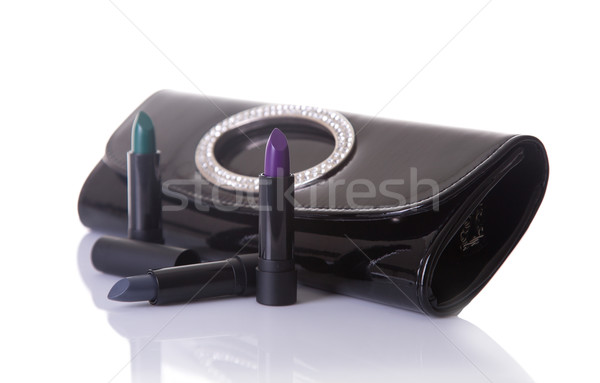 Black handbag clutch and trendy lipsticks  Stock photo © Elisanth