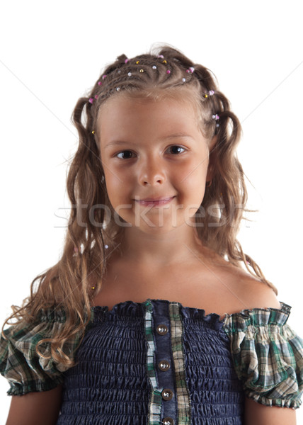 Cute little girl with pigtail hairstyle  Stock photo © Elisanth