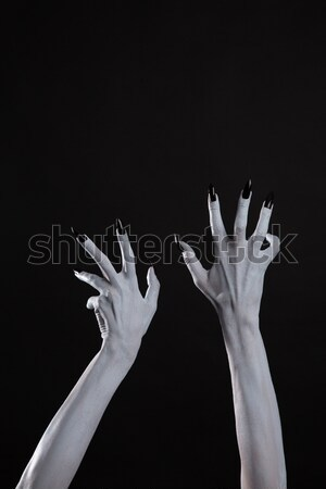 Pale ghost or witch hands with sharp black nails   Stock photo © Elisanth