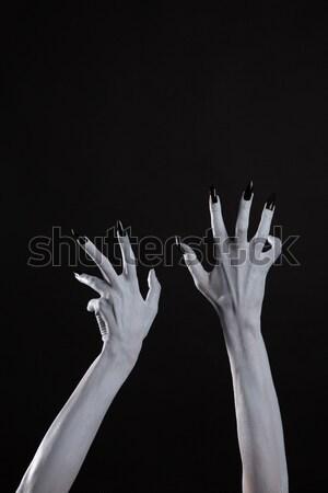 Blady duch witch ręce ostry czarny Zdjęcia stock © Elisanth