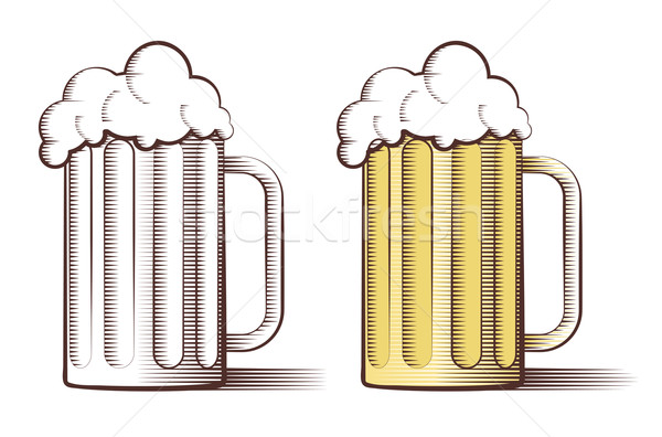 Vector illustration of beer in engraved style  Stock photo © Elisanth