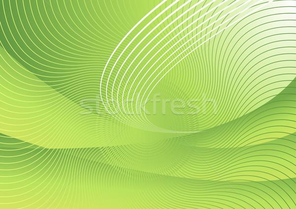ベクトル 抽象的な 緑 技術 ビジネス 科学 ストックフォト © Elisanth