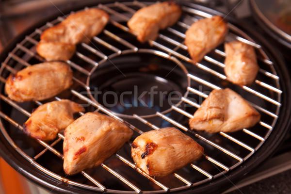 料理 焼き鳥 ガス グリル おいしい 乳がん ストックフォト © Elisanth