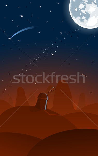 Vector illustration of observatory  Stock photo © Elisanth