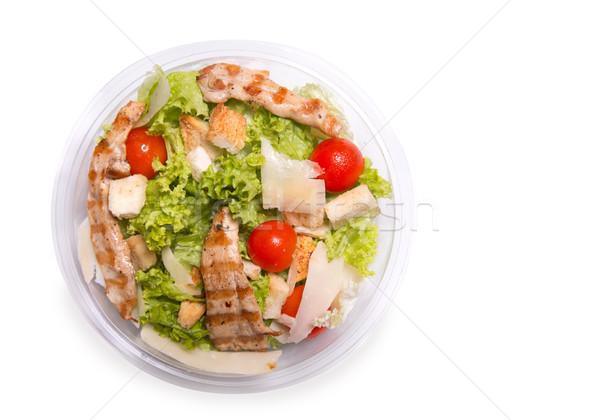 シーザーサラダ 焼き鳥 肉 先頭 表示 孤立した ストックフォト © Elisanth
