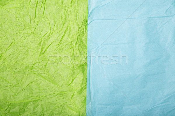 Lime green and baby blue wrinkled paper textures  Stock photo © Elisanth