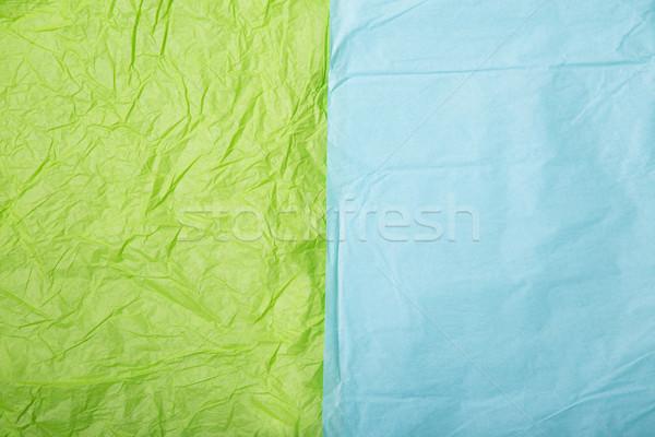 Citrus zöld baba kék ráncos papír Stock fotó © Elisanth