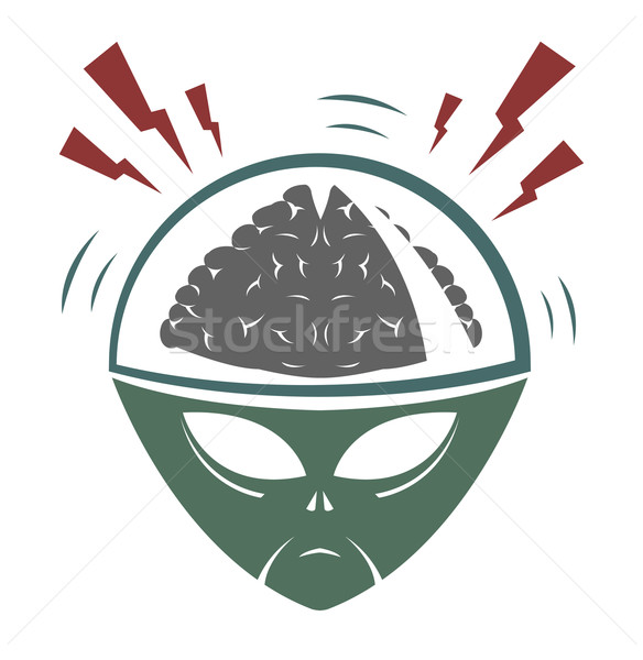 Vector illustration of alien invader  Stock photo © Elisanth