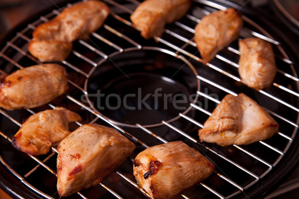 Grilled chicken meat on gas grill  Stock photo © Elisanth