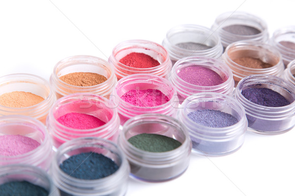Close-up view of mineral eye shadows  Stock photo © Elisanth