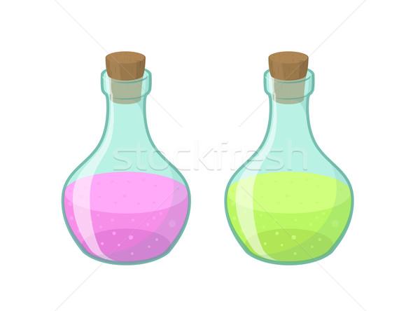 Vector illustration of two bottles  Stock photo © Elisanth
