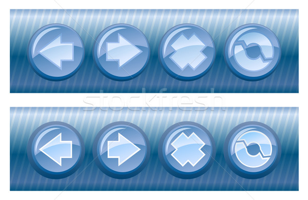 Set of vector browser buttons, on and off  Stock photo © Elisanth
