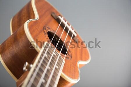 Close-up shot of classic ukulele guitar  Stock photo © Elisanth