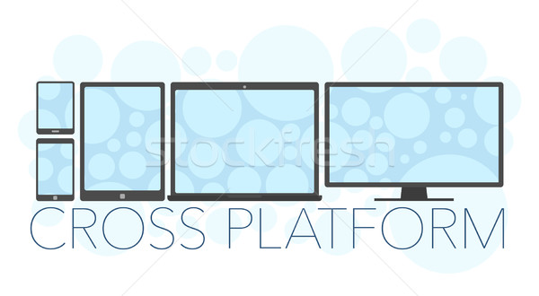 Vector illustration of cross platform concept  Stock photo © Elisanth