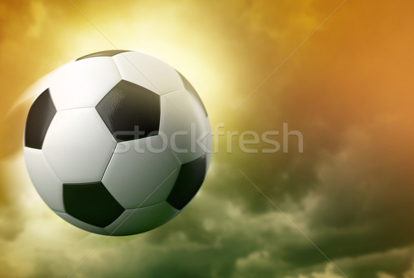 3d soccer ball on dramatic sky background  Stock photo © Elisanth