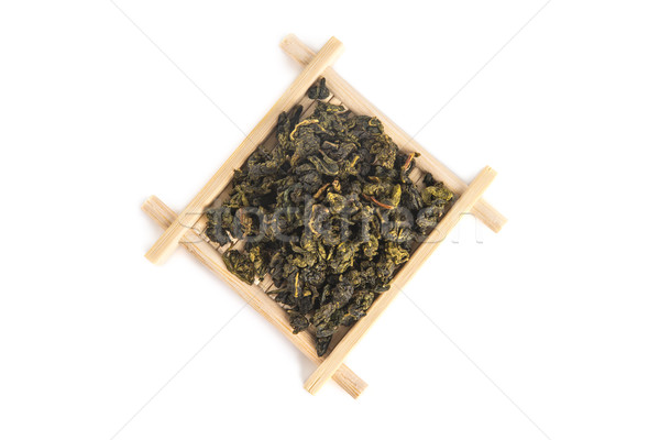 Top view of bamboo serving tray with Tie Guan Yin Oolong tea  Stock photo © Elisanth