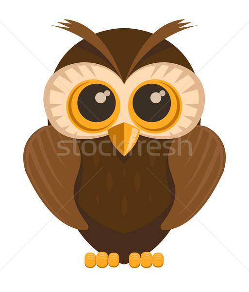 Vector owl bird  Stock photo © Elisanth