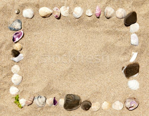 морем снарядов камней кадр природы Сток-фото © Elisanth