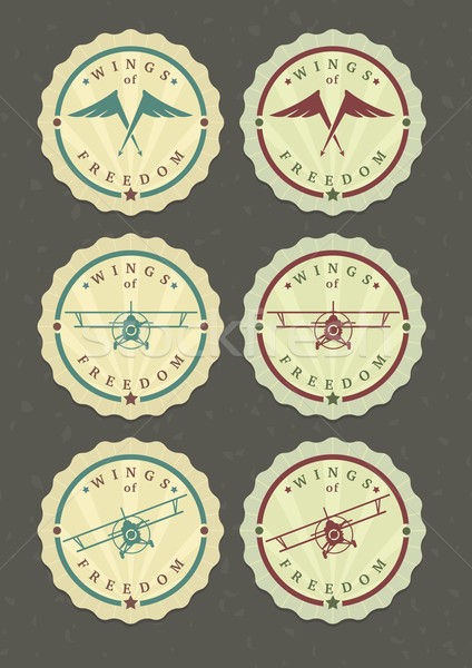Vector set of aviator icons  Stock photo © Elisanth