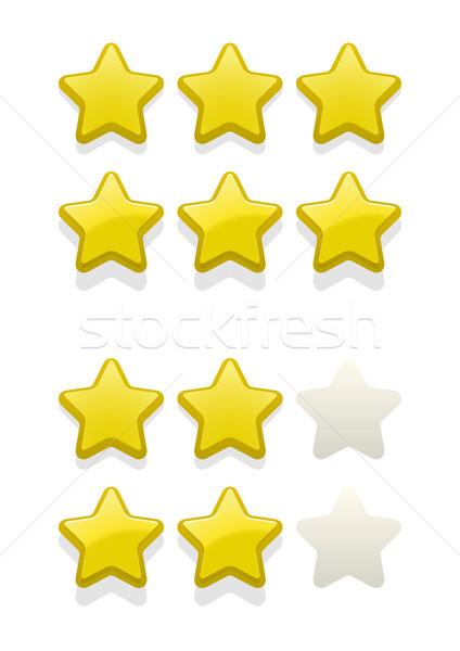Stock photo: Vector set of simple stars