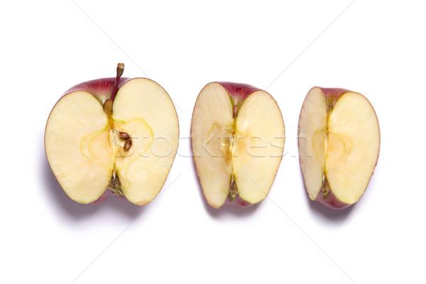 красный яблоко Cut Top Сток-фото © Elisanth