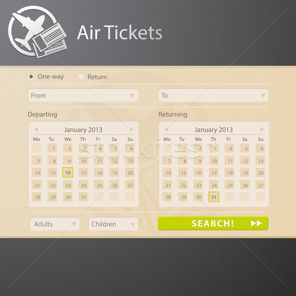 Vector web interface of air tickets sale website  Stock photo © Elisanth