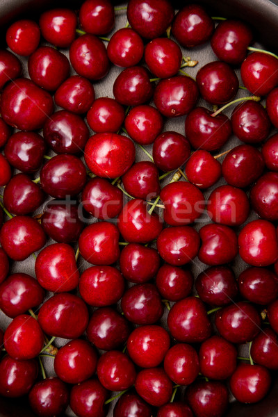 Top view of red cherry texture  Stock photo © Elisanth