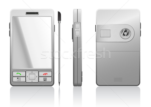 Vector photorealistic illustration of gray PDA Stock photo © Elisanth