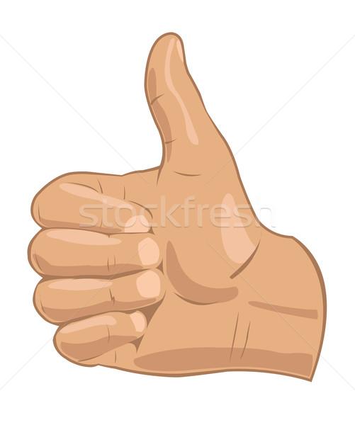 Vektor illusztráció kéz absztrakt háttér felirat Stock fotó © Elisanth