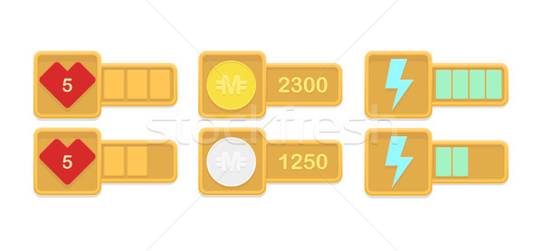 Vector design elements for casual games  Stock photo © Elisanth