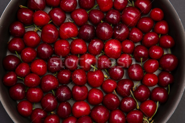 Top view of red cherry  Stock photo © Elisanth
