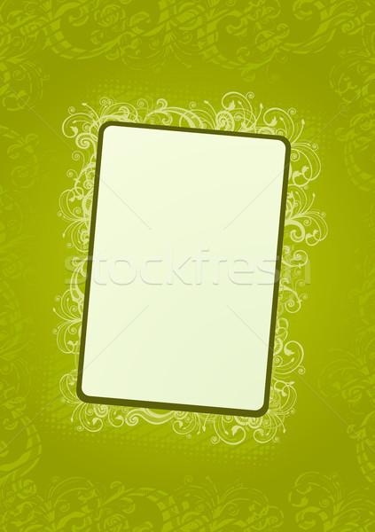 Vektör yeşil duvar kağıdı açık yeşil yumuşak Stok fotoğraf © Elisanth