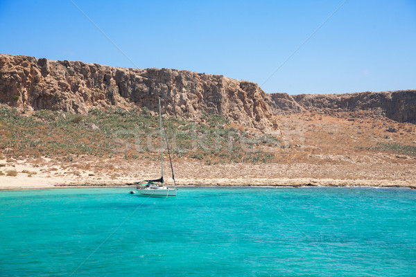 Yat tekne güzel tropikal turkuaz su Stok fotoğraf © Elisanth