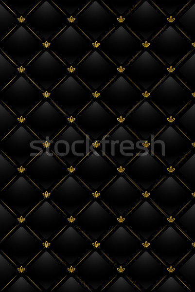 Vector illustration of black leather background Stock photo © Elisanth