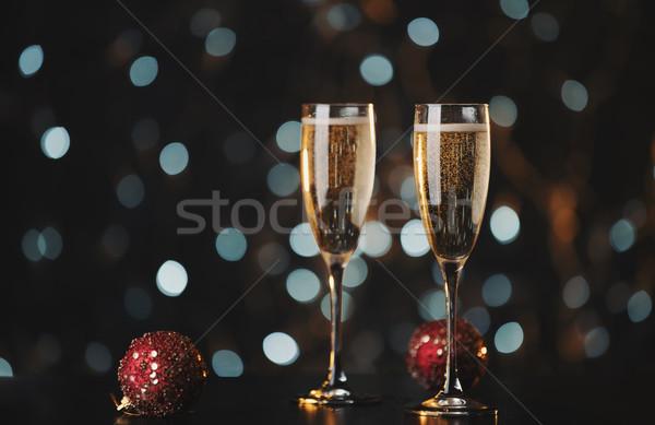 Holiday champagne glasses  Stock photo © Elisanth