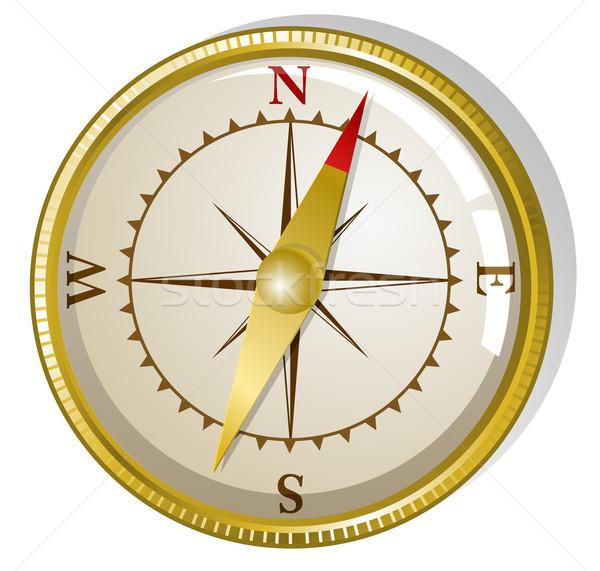 Vector golden compass  Stock photo © Elisanth