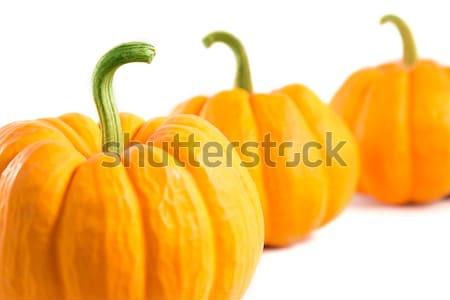 Közelkép lövés kicsi dekoratív narancs sütőtök Stock fotó © Elisanth
