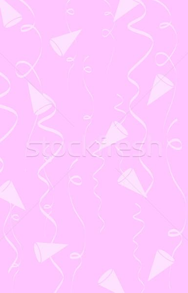 Stock fotó: Vektor · születésnap · sapkák · konfetti · buli · háttér