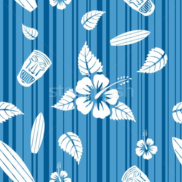Vector seamless Hawaiian pattern  Stock photo © Elisanth
