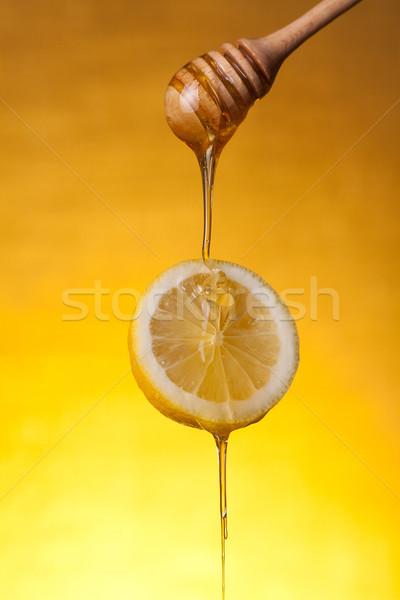Honing Geel voedsel Stockfoto © Elisanth