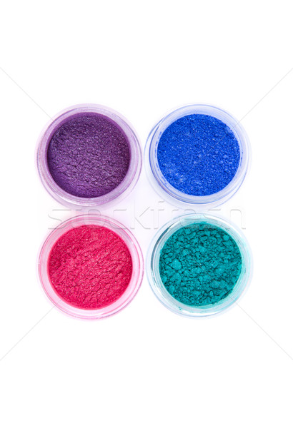 Jars with loose eye shadows in pastel colors   Stock photo © Elisanth